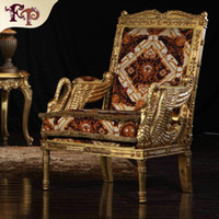 Wholesale luxury classic furniture for sale - Group buy Baroque living room sofa furniture European Classic one person chair Italian luxury classic sofa chair