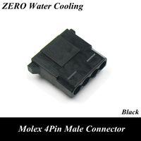Wholesale Black Terminal - Wholesale- Black Molex 4Pin Male Power Connector with 5pcs Free Terminal Pins