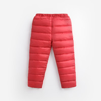 Wholesale Girls Nylon Leggings - Winter 2017 New Arrival High Waist Boys and Girls Pants Thermal Kids Trousers Warm Thicken Down Pant Windproof Waterproof Pants