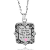 "Wholesale Laugh Necklace - 2016 New Mom Love one side letter"" We Laugh We Cry We Make Time Fly"" &We"" best mom"" necklace ZJ-0903585"