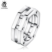 Wholesale Unique Style Engagement Rings - Fashion Octagon Rings Unique Nail Decorated Polygon Ring Classic Style Jewelry Trendy Men Women Rings Jewelry Gift GTR28