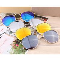 Wholesale reflective sunglasses - 3548 sunglasses men and women retro metal sunglasses tide fashion reflective reflective sunglasses new direct sales 9 colors