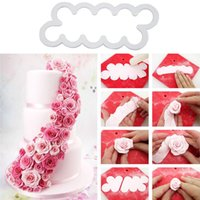 Wholesale tools for sugarcraft - 3PCS Embossed Rose Flower Baking Tool Cookie Pastry DIY Fondant Cupcake Decoration Sugarcraft Biscuit Cutter for Kitchen Baking