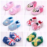 20 couleurs Lovely Toddler First Walkers Chaussures bébé Chaussons ronds Chaussons Soft Chaussons