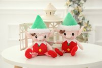 Wholesale Craft Dolls Wholesale - Christmas Elf doll Stuffed elf Arts and Crafts Elves Christmas decorate Kids Christmas Gift 30cm Free Shipping