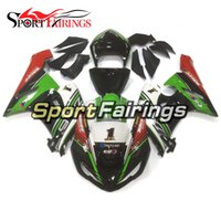 Wholesale Zx6r Frame - Green Black Fairings For Kawasaki ZX6R 636 2005 2006 05 06 ABS Injection Plastic Motorcycle Fairing Kit Cowlings Body Frames Covers Carenes