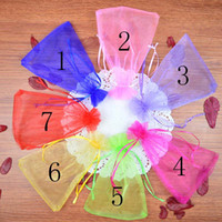Wholesale Things Packaging - 7 Colors Organza Jewelry Bags 13x18cm Wedding Gift Pouches Little Thing Packaging Bags Candy Bag 20pcs lot