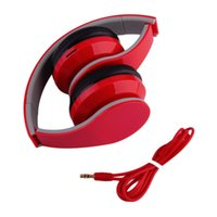 Wholesale Pc Mp4 Player - 2016 New Foldable Wireless Stereo Bluetooth Headset MP3 Player TF Card FM Radio Headphone Earphone For Mobile Phone PC White Red