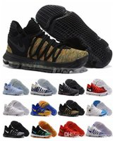 Wholesale Gold Glitter Baby Shoes - 2017 New Arrival KD 10 X Oreo Bird of Para Basketball Shoes for High quality Kevin Durant Bounce Airs Cushion Sports Baby, Kids Size 7-12