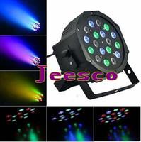 Wholesale Led Par Lights For Sale - Hot sale RGB Led Flat Par Light 18pcs*1W for stage disco dj homeparty light DMX Control