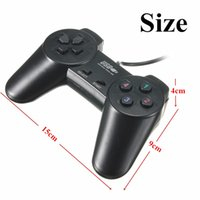 Hot Black USB 2.0 con cable Multimedia Gamepad Joystick Joypad Game Controller para PC Ordenador portátil para XP / for Vista Game Pad