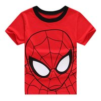 Wholesale Spiderman Shirts For Girls - New Kids Cotton Boys T Shirt Spiderman Children Tops Tees For Boys Girls Clothing Summer T-shirts Red Child Clothes