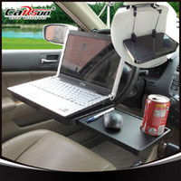 Wholesale Standing Laptop Tray - Portable Foldable Car Laptop Stand Foldable Car Seat Steering Wheel Laptop Notbook Tray Table Food drink Holder Stand W054