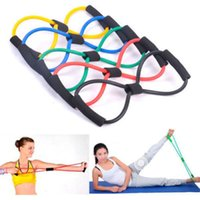 Wholesale Tubing Band Stretching - Pull Rope Girls Tubing Cable Machine Enlarge Bosom Tubing Rubber Tubing Resistance Band Yoga Pilates Abs Exercise Stretch Fitness Tube