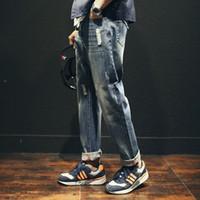 Wholesale Harem Pants Masculina - Wholesale-2016 New Men Jeans Men Baggy Jeans Denim Hip Hop Pants Casual Loose Jeans Trousers Japanese Harem Pants Calca Jeans Masculina