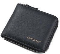 Wholesale Function Currency - 2017Quick selling currency source layer cowhide men's purse, zipper wallet, multi function card, zero wallet