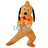 Wholesale New Pluto Mascot Costume - New Pluto Dog Mascot Costume Fancy Dress Outfit Free Shipping Adult Size