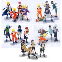 Wholesale Action Figure Itachi - 4pcs Set Japanese Naruto Anime Action Figures Sasuke Itachi Kakashi PVC Toy Dolls 10cm Cartoon Model for kids gift free shipping in stock
