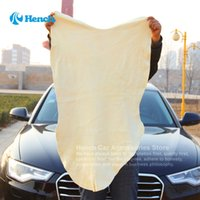 Wholesale Leather Chamois Cloth - Free Shipping Drying Cleaning Towel Natural Genuine Leather Chamois Shammy Sponge cloth Sheepskin Absorbent Towel Car Washing 50*80cm