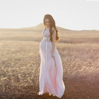 Wholesale Long Maternity Summer Dresses Bohemian - Sexy Bohemian Maternity Wedding Dresses 2016 Glamorous Deep V Neck Stunning Light Pink A Line Empire Tulle Country Bridal Gowns Long Train
