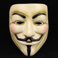 Wholesale vendetta cosplay online - Halloween Mask V for Vendetta Mask Anonymous Guy Fawkes Fancy Dress Adult Costume Accessory Party Cosplay Masks CCA7506