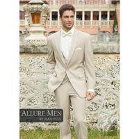 Wholesale Men S Two Button Suit - Wholesale- Allure Two Buttons Groom Tuxedo Best Man Groomsman Suit Men Destination Wedding Suits Formal Suit (Jacket+Pants+Vest)
