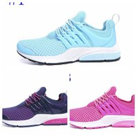 Wholesale Cheap Flat Ladies Shoes - 2016 womens cheap air presto running shoes ladies pink blue purple sport sneakers free drop shipping 36-39