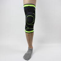 tejidos profesionales al por mayor-Tejido 3D presurización rodillera baloncesto tenis senderismo ciclismo ayuda profesional protectora rodilla rodilleras