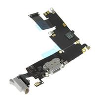 cable usb blanco manzana al por mayor-ORIGINAL Gris y negro Blanco Base de carga USB Cargador Puerto Auriculares Cable Flex para iPhone 6 plus