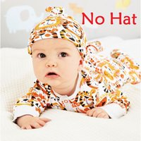 Spring / Autumn pajamas with feet - Lion Print Baby Rompers With Foot Newborn Clothes Footcover One Piece Clothes Overalls Pajamas Romper Cotton Jumpsuit Sleepwear