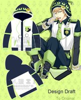 Wholesale Dramatical Murder Cosplay Costume - Wholesale-Anime Dramatical Murder Noiz Cosplay Costume Fleece Hoodie Overcoat Jacket Free Shipping