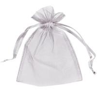 ingrosso borse blu di favore di nozze-100pcs 5x7inch argento sacchetti di organza sacchetto del regalo favore di nozze involucro del partito di Natale (13 cm x 18 cm) multi colori rosso rosa avorio oro blu verde