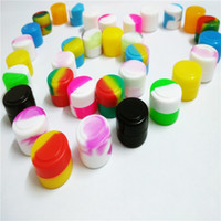 Wholesale Food Wholesalers Usa - Stock in USA! Mini Round Non Stick Silicone Container Dabber Food Grade Wax Jars Dab Storage 2ml Wax Container 100pcs lot