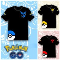 Wholesale 75 B - Poke go T-shirts 3 color men woman kids Camis Pikachu Jeni turtle Charmander Squirtle Print tank tops Short sleeve T-shirts B