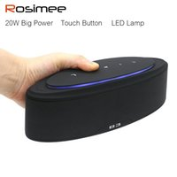 Wholesale docking music - Wholesale- Super Bass 20W Mini Portable Bluetooth Wireless Speaker with LED Lamp Sound System Stereo Music Loudspeaker for iPhone Xiaomi