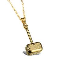 Wholesale Mens Korean Necklace - Korean Fashion Jewelry Pendant Necklace Mens Titanium Metrosexual personality accessories hammer Pendant N1000