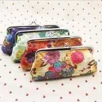 Wholesale Korea Purse Sale - Wholesale-Hot Sale New Korea Embroidery Flower Coin Change Key Purse Handbag Bag Wallet Women Clutch Casual