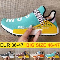 En gros NMD Race Humaine Hu trail Chaussures de Course Hommes Femmes Pharrell Williams NMD Jaune noble encre core Noir Rouge Runner Boost Chaussures