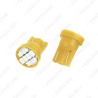 Wholesale Wedge Base Led Bulbs - 100pcs lotHigh Power Yellow T10 194 168 1206 Chip 8SMD Wedge Base Car LED Light Bulbs DC12V
