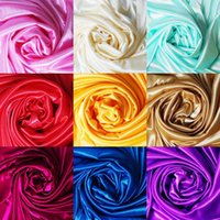 Wholesale Flower Curtain Wall - 3m lot 1.5m Wide Ice Silk Cloth Fabrics Wedding Birthday Party Decoration Satin Fabric DIY Curtain Clothing Lining 21 Colors