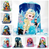 Wholesale Cheap Children Handbag - 2016 New Avengers 2   frozen   Spiderman drawstring bags backpacks handbags children school cartoon kids shopping bags Cheap