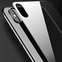 cristal claro delantero iphone al por mayor-Cristal templado frontal y posterior ultra delgado para iPhone 7 Plus Plus 7 Plus protector transparente de pantalla
