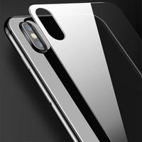 iphone açık ön cam toptan satış-Ultra İnce Ön ve Arka Temperli Cam iPhone x 7 7 Artı 8 8 Artı Yüksek Clear Ekran Koruyucu