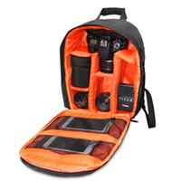 Wholesale Digital Dslr Bag - 2016 Hot Sale fashion outdoor camera backpack dslr slr camera bag photography digital camera video backpack free For Cannon Sony Nikon