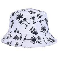 Wholesale Male Bucket Hats - Wholesale-New Adult Female Male Camping Outdoor Fishing Cap Bob Red Black Print Adjustable Bucket Hat Hip hop Man Women