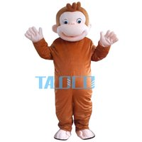 Wholesale monkey mascot costume adult - New Style Curious George Monkey Mascot Costumes Cartoon Fancy Dress Halloween Party Costume Adult Size Free Shipping