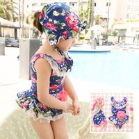 Wholesale Korean Girls Swim Suit - Summer Baby Swimsuit Bikini Infantil Swim Bathing Suit PrettyBaby New Korean Baby Girls Bikini Kids Girl Swimwear Baby Swimsuit Ruffle Bow