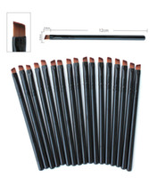 Wholesale Eyeliner Brush Sale - Hot Sales Foundation Angled Eyebrow Eye Liner Makeup Brushes Brow Tool Black Handle High Quality DHL Free Shipping
