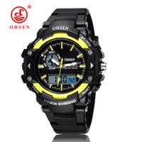 Top Verkauf Ohsen Marke Neue Led Digital Display Mens Frauen Outdoor Sport Uhren 50 Mt Wasserdicht Tauchen Gelb Mode Uhr Hombre Uhren Digitale Uhren