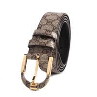 Wholesale Golden Women Belts - Free shipping fashion Genuine Leather belt men and women high quality pin buckle men belt mens belts luxury brand leather belt for men women